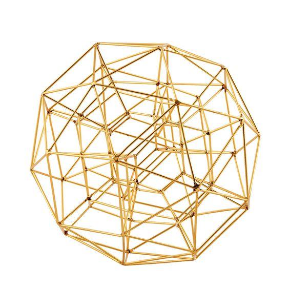 Décoration globe en laiton doré pour Noël, diamètre 21cm - 59€