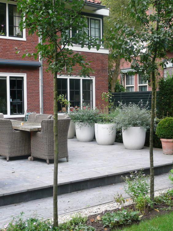 Tuin mooi plantenbakken container garden pinterest tuinen tuinieren in potten en planters - Ideeen buitentuin ...