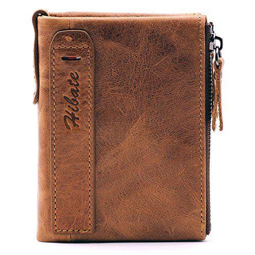 *NEW* Hibate RFID Blocking Leather Credit Card Holder Wallet for Men Women