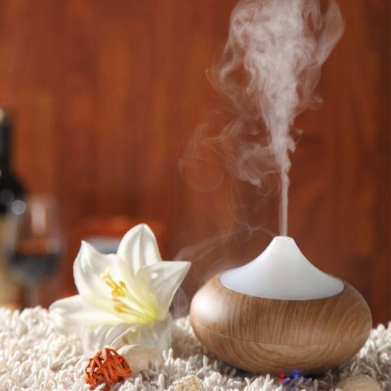 Turn on this stress-busting aroma diffuser + let your tensions melt away.: