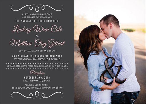 Wedding Invitations Utah - LDS Wedding Invitations - Utah Wedding ...