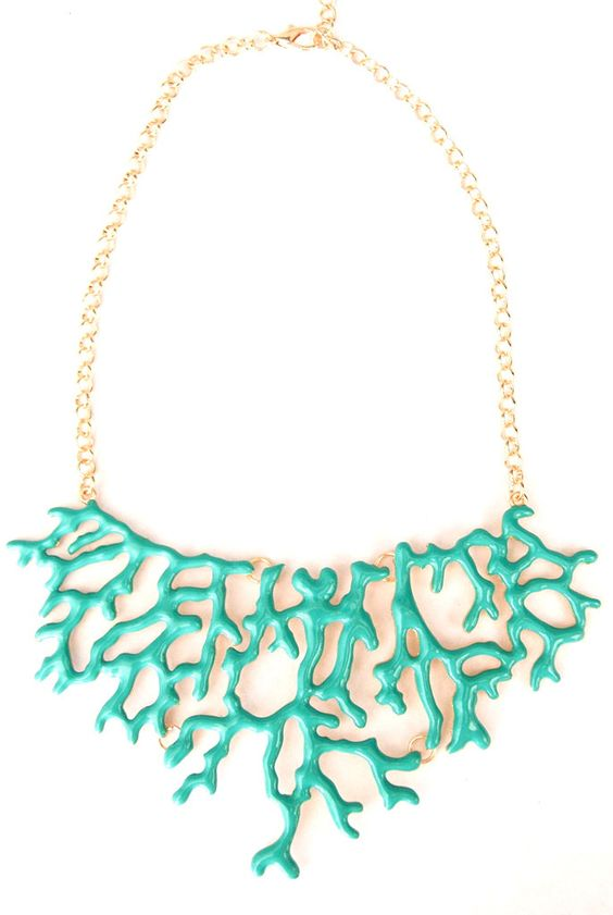 Branch Coral Necklace - Sky Blue
