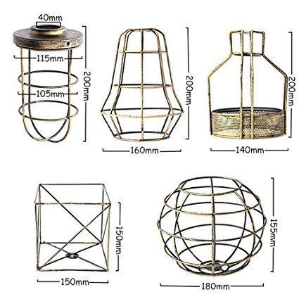 KINGSO Vintage Retro Pendelleuchte Hängeleuchte Lampenschirm Klassischer Eisen Anhänger DIY Lampe Zubehör 140*200mm Bronze: Amazon.de: Beleuchtung