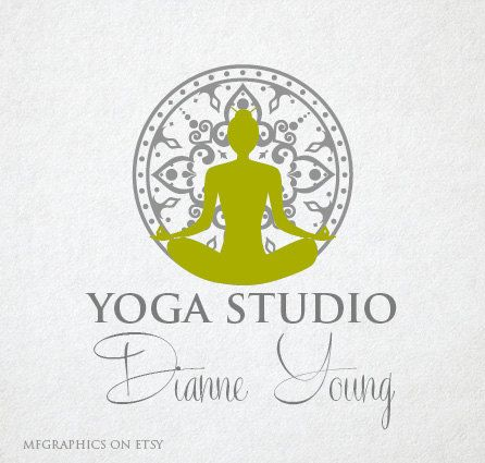 Premade Logo, OOAK logo, Yoga Logo Design, Digital Art ...