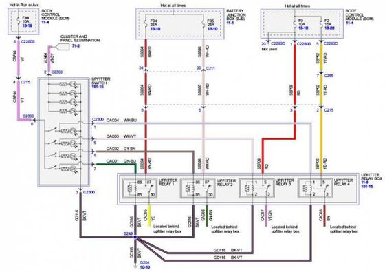10 Stack Dash Wiring Diagram Diagram Ford Truck Switches