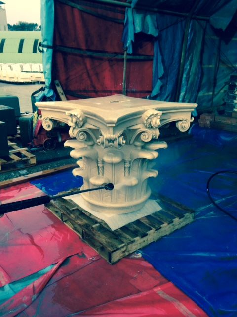 Sneak Peak:  The First Corinthian Capital for Strathmore House has just been broken out of its mold! www.strathmore-house.co.uk