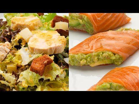 Ensalada César Rollitos De Salmón Ahumado Y Aguacate Cocina Abierta De Karlos Arguiñano You Rollitos De Salmon Recetas Fáciles De Comida Comida Sin Carne