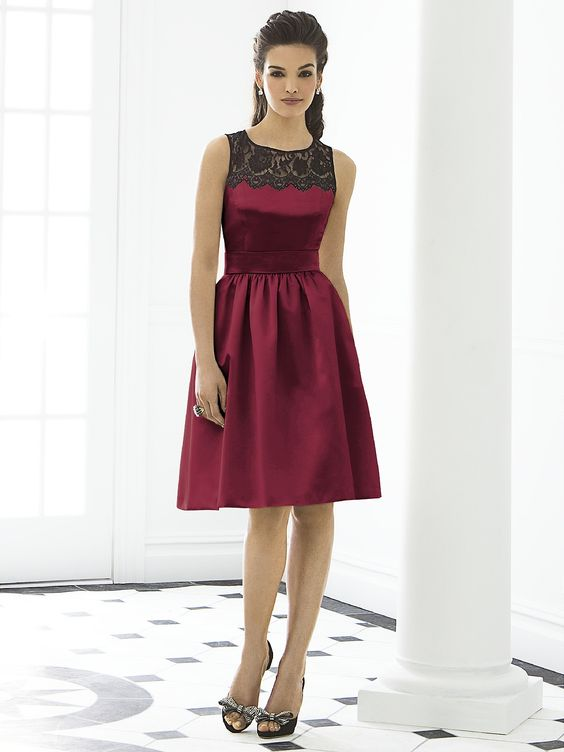 After Six Bridesmaid Dresses - Style 6644...$204.00 at BestBridalPrices.com.....Burgundy Matte Satin