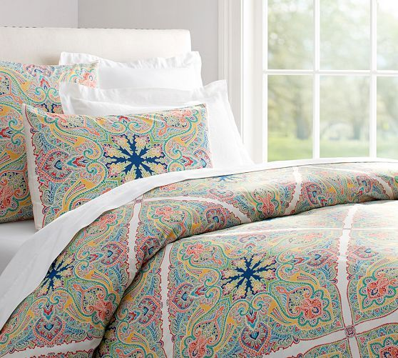 Penelope Organic Duvet Cover & Sham - Twilight Blue | Pottery Barn | Guest Bedroom