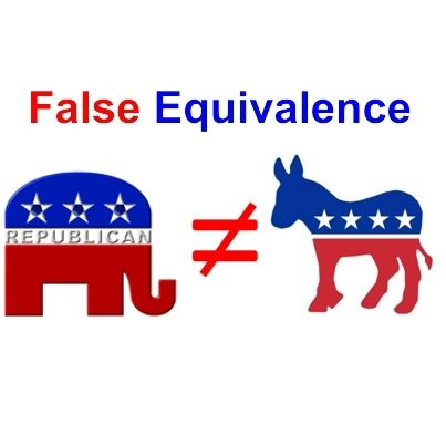 Our political mess is a result of false equivalence