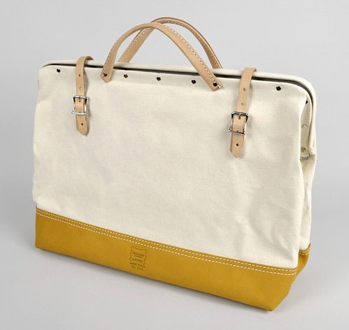 "20"" CANVAS MASON BAG WITH LEATHER BOTTOM (NO. 304) :: HICKOREE'S HARD GOODS"