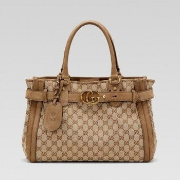 Gucci 247183 F4c1t 8569 Gg Running'Medium Tote Mit Lederg��rtel And Run Gucci Damen Handtaschen
