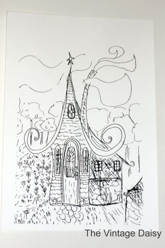 $15.00   The Wizards House - print from an original ink sketch  http://www.etsy.com/listing/92070529/the-wizards-house-print-from-an-original