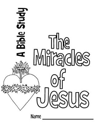 The Miracles of Jesus [Bible Study for Kids] Free printable booklet for studying seven stories about Jesus' miracles in the Bible.