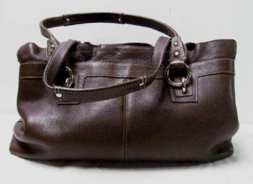 Coach Brown Leather Purse Satchel Handbag Bag #Coach #Satchel