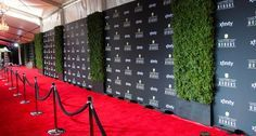 Red Carpet Step And Repeat, 30Th Red, Oscars Red Carpets, Floral Design, Agency Ideas, Red Carpet Backdrop, 12 Incredible, Design Red, Nfl Red