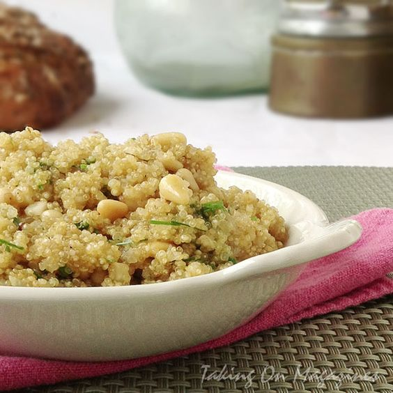 Quinoa with Toasted Pine Nuts from Cooking Light Magazine, April 2013