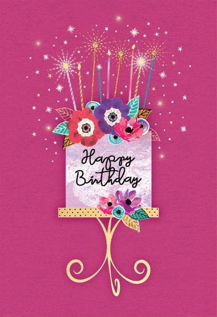 Sparkle Celebration Happy Birthday Card Happy Birthday Cards Happy Birthday Greetings Happy Birthday Wishes Cards
