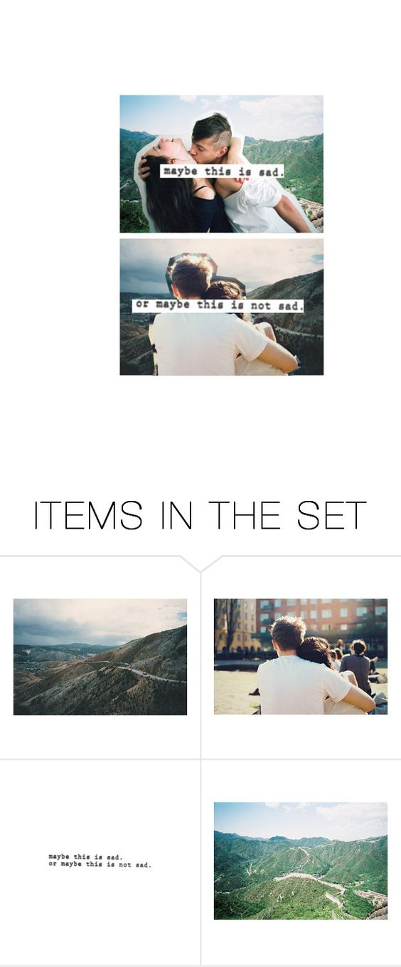 """maybe we won't be sad anymore"" by sinemvtic ❤ liked on Polyvore featuring art"