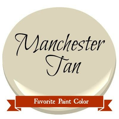 Three walls in Family room and into kitchen Favorite Paint Color ~ Benjamin Moore Manchester Tan