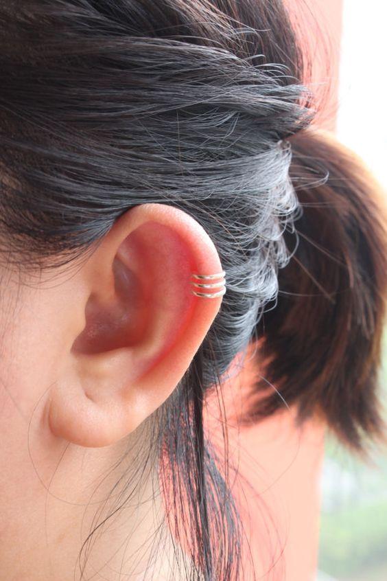 Sterling Silver Ear Cuff Ear Cuff Simple ear cuff by JCoJewellery
