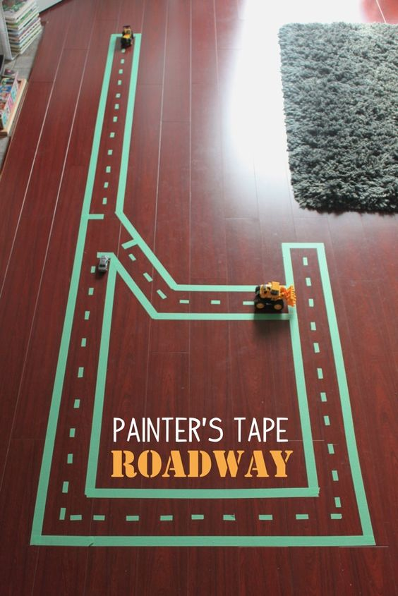 Painter's Tape Roadway | Mama.Papa.Bubba.:
