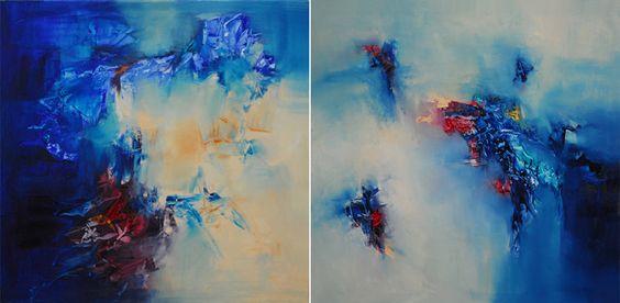 """""""Partir, en cuerpo y alma partir"""" - Paula Barbella - Oleo sobre tela - 80 x 160 cm www.esencialismo.com"""