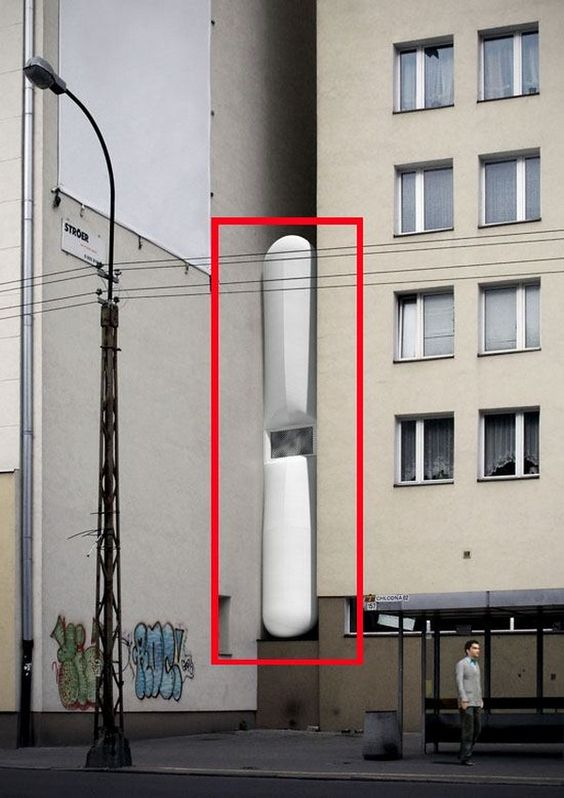 Thinnest Flat In The World – The Keret House in Wola / Poland > Baukunst, Design und so, Fashion / Lifestyle, Illustrationen > apartment, architecture, crib, flat, polen, small, thin