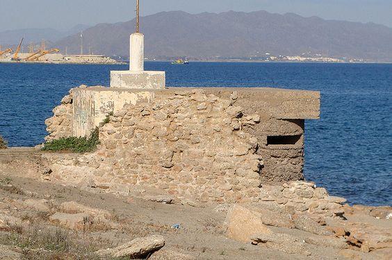 036 LEVANTEALM Búnker Garrucha by Miradas de Andalucía, via Flickr: Levantealm Búnker, Ii Relics, Andalusia, Búnker Garrucha, 036 Levantealm, Abandoned Pillboxes, Almería Spain