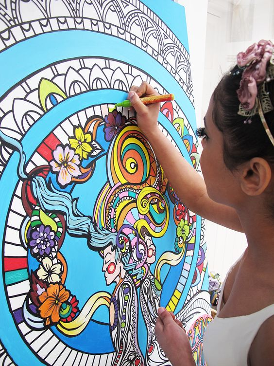 Colouring in for grown ups! 10% off Fancy Features Art to entertain your guests!!