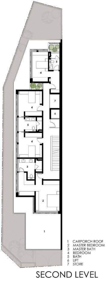 Dise o de casas angostas y largas construye hogar for Construye hogar