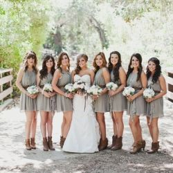 "Okay, the ""country wedding thing"" is so over the top at this point it makes me want to scream. Everyone has done it and it wasn't especially cute the first time. Your cowboy-boot clad bridesmaids are not adorable."