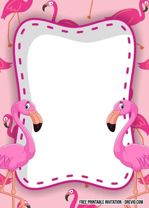 Free Flamingo Birthday Invitation Templates Flamingo Birthday Party Invitations Flamingo Birthday Invitations Free Printable Birthday Invitations