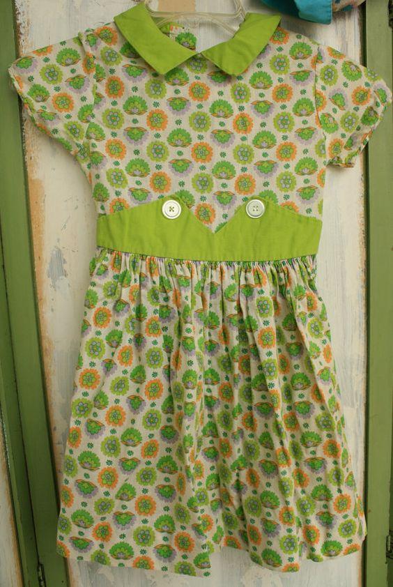Floral Vintage Children's Dress by snabbacash on Etsy, $23.00