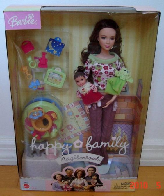 Barbie Happy Family New Neighboor With Baby Set Barbie