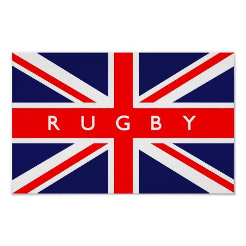 Rugby Uk Flag Poster Zazzle Com In 2020 Uk Flag Flag United Kingdom Flag