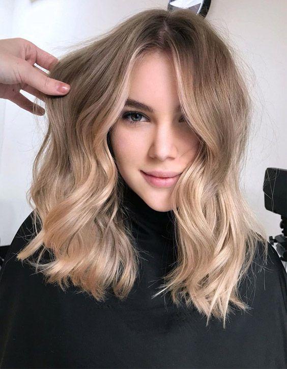 27+ Medium length balayage blonde ideas in 2021