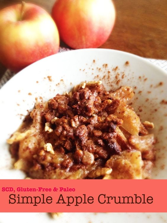 Simple Apple Crumble | Gluten-Free, SCD, Paleo Apple Crumble |