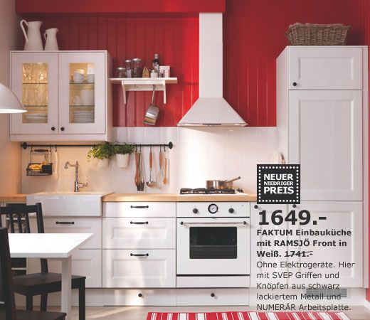 weiße IKEA Küche | Küche | Pinterest | Ikea küche, Ikea und Küche