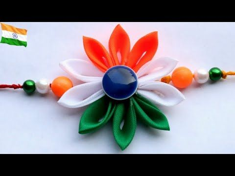 Diy Indian Tricolor Rakhi Design Rakhi Making For Kids School