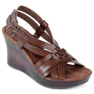 arizona regan wedge sandals jcpenney girly