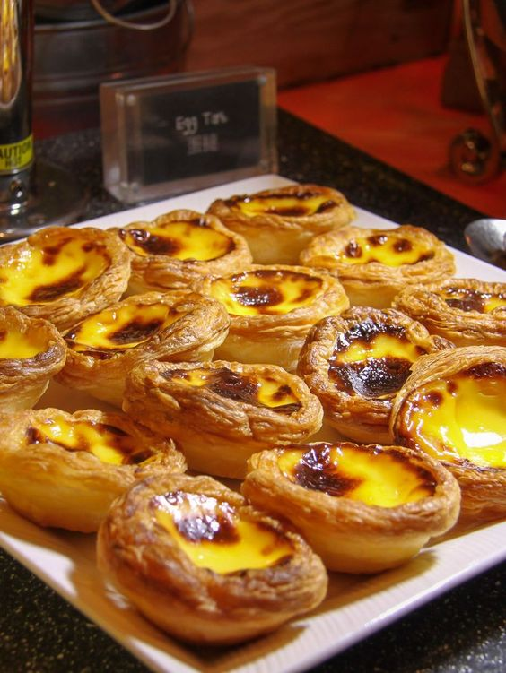 Portuguese egg tarts from the breakfast buffet at @FSMacau. Some of the many delicious things to eat in Macau, China.