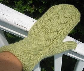 Mittens, Cable and Crystal palace on Pinterest