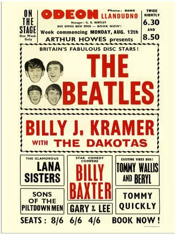 The Beatles - Odeon Llandudno Wales - Mini Print