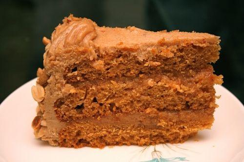 Agave Sweetened Peanut Butter Cake - Vegan