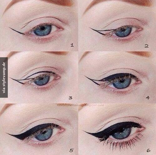 Perfekter Eyeliner Strich