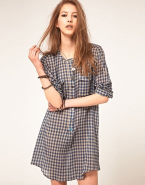 Zadig and Voltaire Shirt Dress in Gingham Check