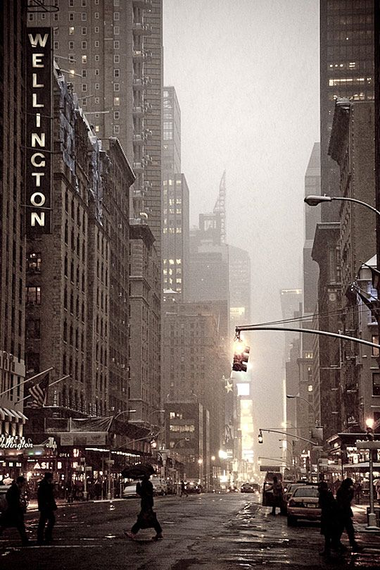 upper 7th avenue looking south nyc the wellington hotel. Black Bedroom Furniture Sets. Home Design Ideas