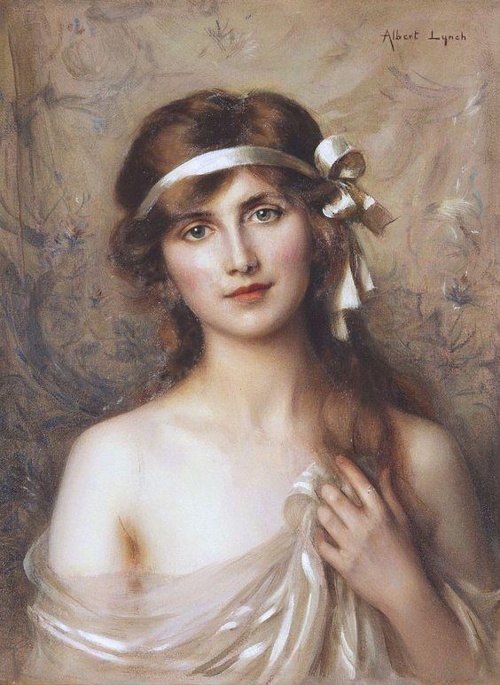 'La Cinta Blanca' de Albert Lynch (1851-1912)