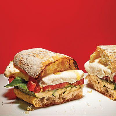 Grilled Zucchini Caprese Sandwiches: